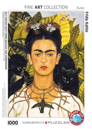 Eurographics Frida Kahlo - Self-Portait with Thorn Neclace and Hummingbird - 1000 stukjes