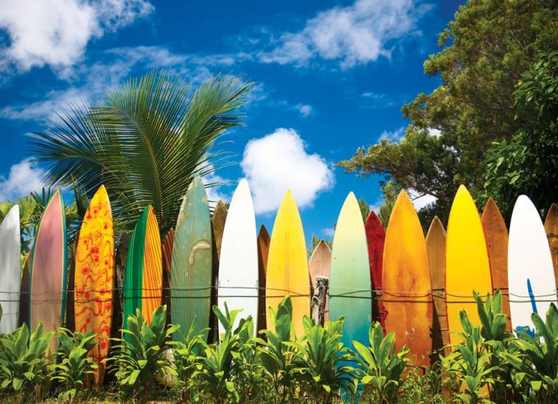 Eurographics 0550 - Surfer's Paradijs Hawaii - 1000 stukjes