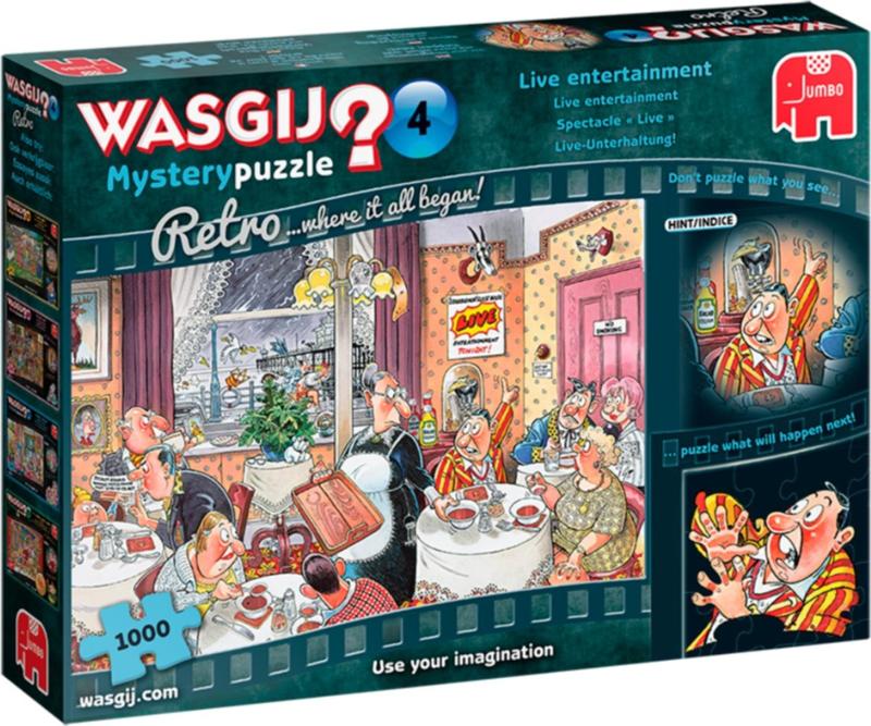 Wasgij Mystery 4 Retro - Live Entertainment - 1000 stukjes