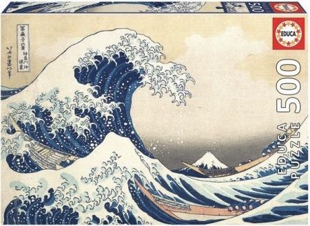 Educa Katsushika Hokusai - De Grote Golf van Kanagawa - 500 stukjes