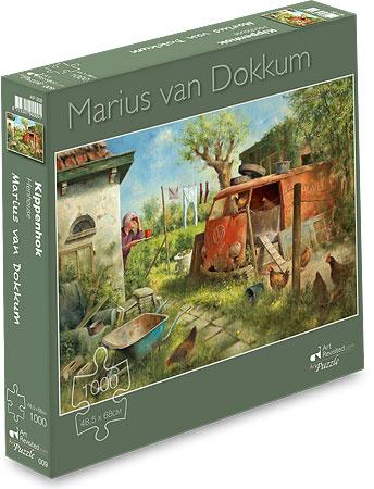 Art Revisited Marius van Dokkum - Kippenhok  - 1000 stukjes
