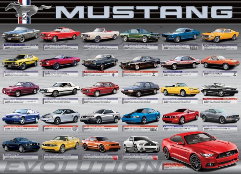 Eurographics 0684 - Ford Mustang Evolution - 1000 stukjes