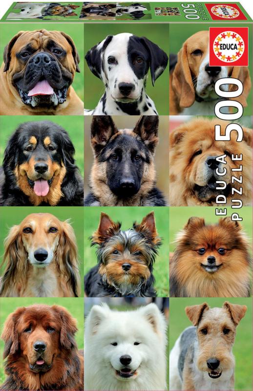 Educa - Dogs Collage - 500 stukjes
