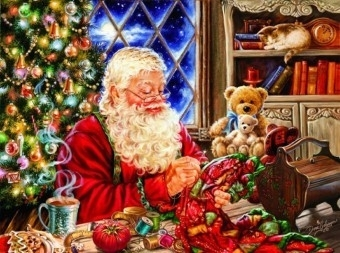 SunsOut 57113 -  Santa Sew Sweet - 1000 stukjes   OP=OP