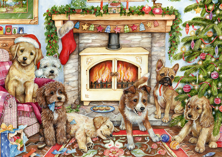 Falcon de Luxe 11310 - Christmas Puppies - 500 stukjes