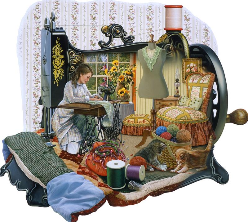 SunsOut 95072 - Sewing Memories - 1000 stukjes  Vormpuzzel