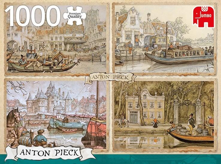 Anton Pieck - Boten in de Gracht - 1000 stukjes
