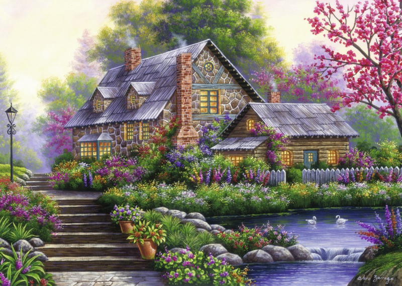 Ravensburger - Romantische Cottage - 1000 stukjes