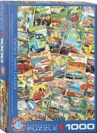 Eurographics 5628 - Vintage Travel - 1000 stukjes