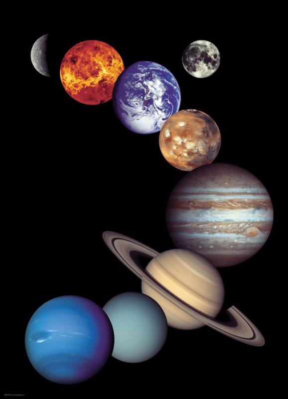 Eurographics 0100 - NASA The Solar System - 1000 stukjes