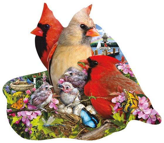 SunsOut 97193 - Spring Cardinals - 800 stukjes  Vormpuzzel