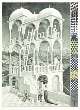 Puzzelman M.C. Escher - Belvedere - 1000 stukjes