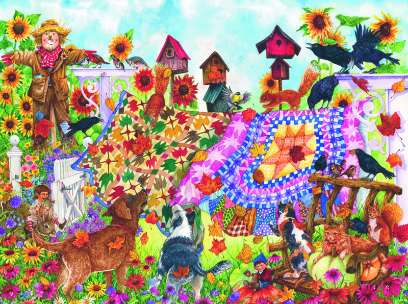 SunsOut 20225 - Autumn Garden Quilts - 1000 stukjes