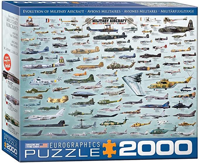 Eurographics - Evolution of Military Aircraft - 2000 stukjes