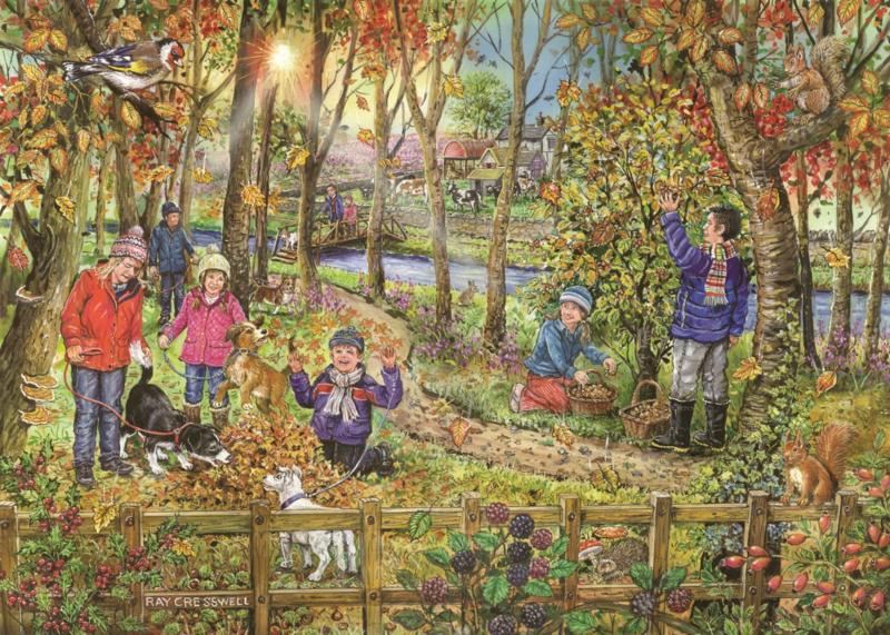 House of Puzzles - Autumn Leaves - 250XL stukjes