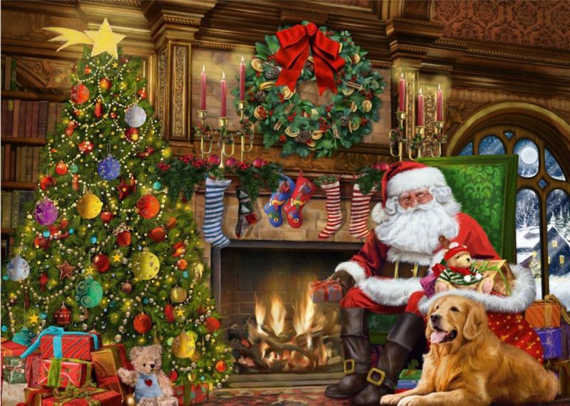 Falcon de Luxe 11311 - Santa by the Fireplace - 500 stukjes  OP=OP