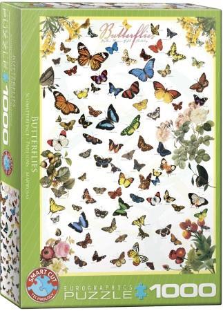 Eurographics 0077 - Butterflies - 1000 stukjes