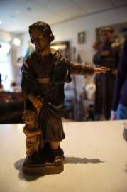 Heilige Jozef van Smakt, gips, Gerard Linssen Venlo 22 cm (12)