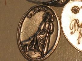 Devotie medaille Rochus 2 cm