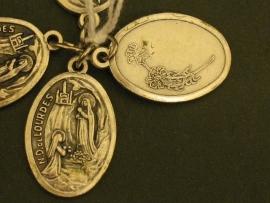 Devotie medaille OLV van Lourdes 2 cm