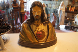 Christus borstbeeld, 25 cm hoog gips, ca. 1900 (0)