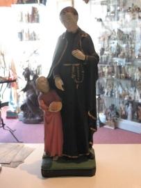 .Gerardus Majella heilige 42 cm hoog. gips