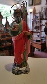 .Joachim 21 cm Vader van Maria, gips, kristallen ogen