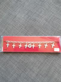 Armband met kruisjes, 17 cm