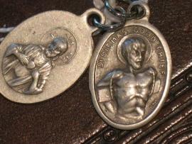 Devotie medaille Dismas de goede dief  2 cm