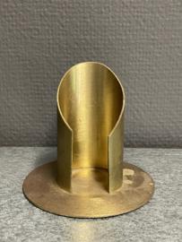 Kaarsen standaard, messing, 4 cm doorsnee, (10)