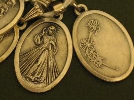 Devotie medaille Jezus Barmhartige 2 cm