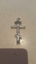 .Orthodox kruisje, 8.5 cm, metaal.