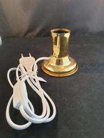 Lampen voetje, goud glans, dikke viting (3)
