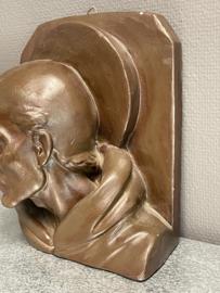 Ignatius van Loyola, borstbeeld, gips, 25 x 21 cm (0)