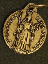 Medaille Heilige Gertrudis / Geertruida van Nijvel