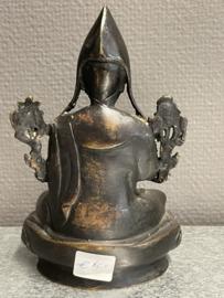 Tibetaans Bronzen beeld van Tsongkhapa, 16 cm