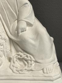 kindje Jezus, onbewerkt gips, 28 x 20 cm (0)