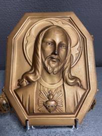 Jezus Heilig Hart, koper, 20 x 16 cm (8)