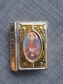 Rozenkrans doosje, Heilige Franciscus, 5.5 cm