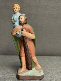 Christoffel beeldje gips 17 cm. (8)