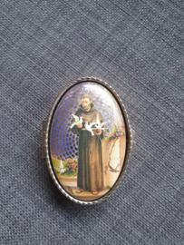 Rozenkrans doosje, Heilige Franciscus, 7 cm