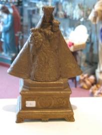 Maria OLV van Hanswijck 22 cm hoog. Messing