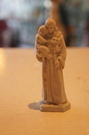 Vuistbeeldje Antonius  biscuit porcelein 9 cm