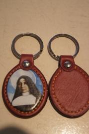 Sleutelhanger Heilige Faustina, leder