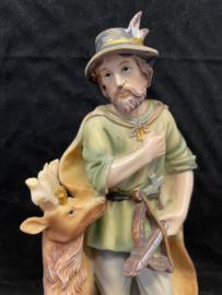 Hubertus, 20 cm, resin, beschadigd