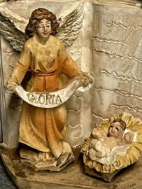 Engel bij kribbe, resin, 5.5 cm (0)