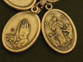 Devotie medaille OLV Maria ten hemelopneming 2 cm ( 15 augustus)