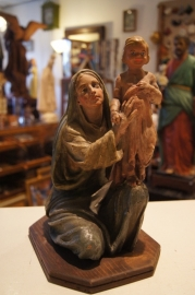 .Maria met kind, terracotta ca. 1900, 31 cm