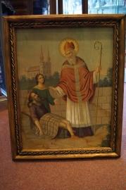Sint Valentijn (Felten)  ingelijste plaat Duits 1930