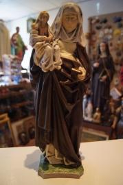Anna te drieën, Anna,Maria en Jezus, 34 cm Franse steen (16F)